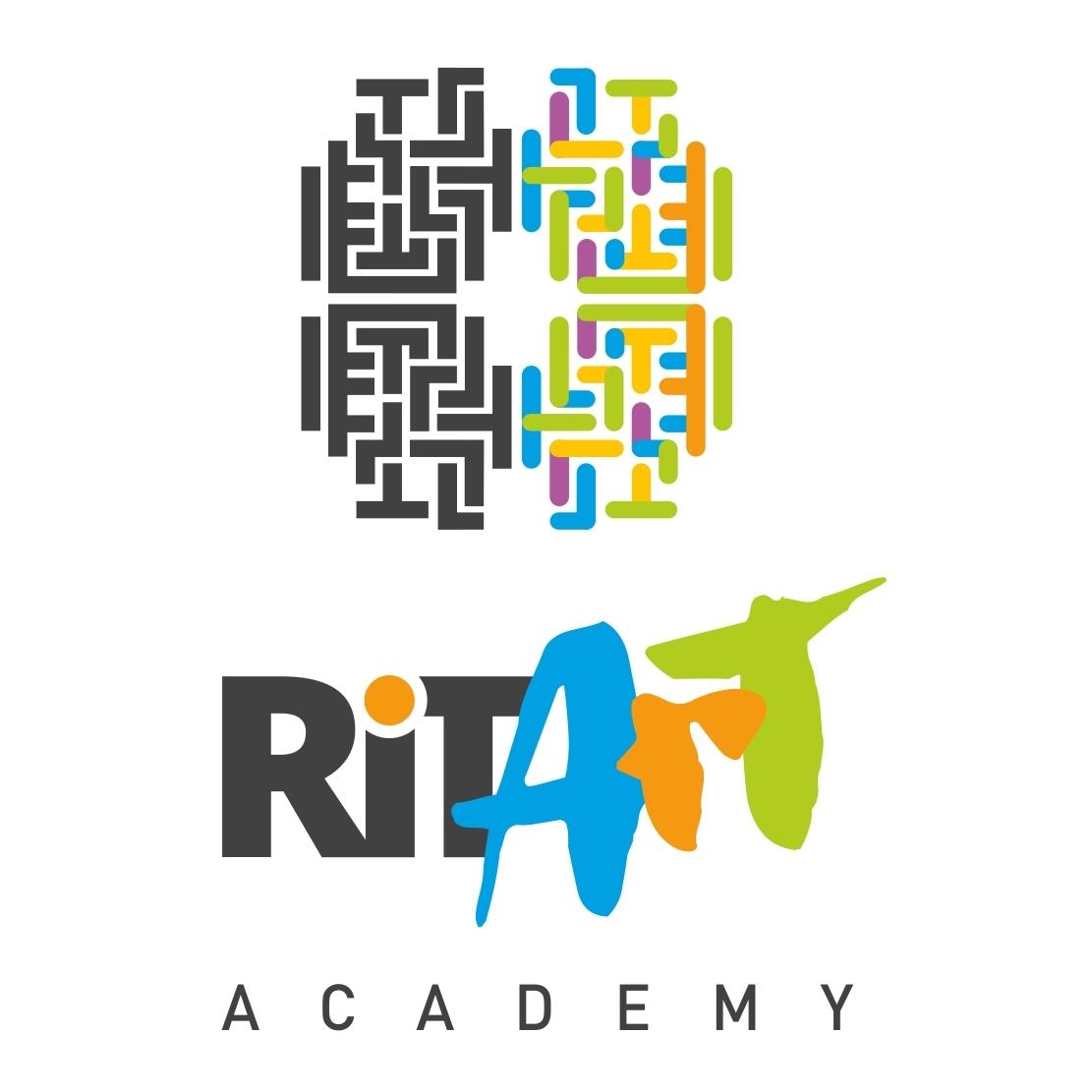 A két agyfélteke a RItArt logóban